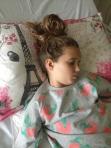Sleeping with no bandage