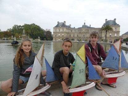 Toy sailing boats