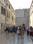 The marbled street and the old city wall