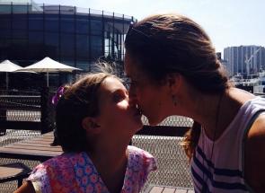 I always get lots of kisses