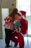 "A hug from ""Santa"""